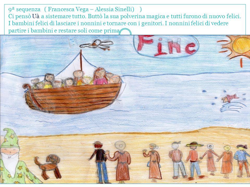 9ª sequenza ( Francesca Vega – Alessia Sinelli) ) Ci pensò Uà a sistemare tutto. Buttò la sua polverina magica e tutti furono di nuovo felici. I bambi