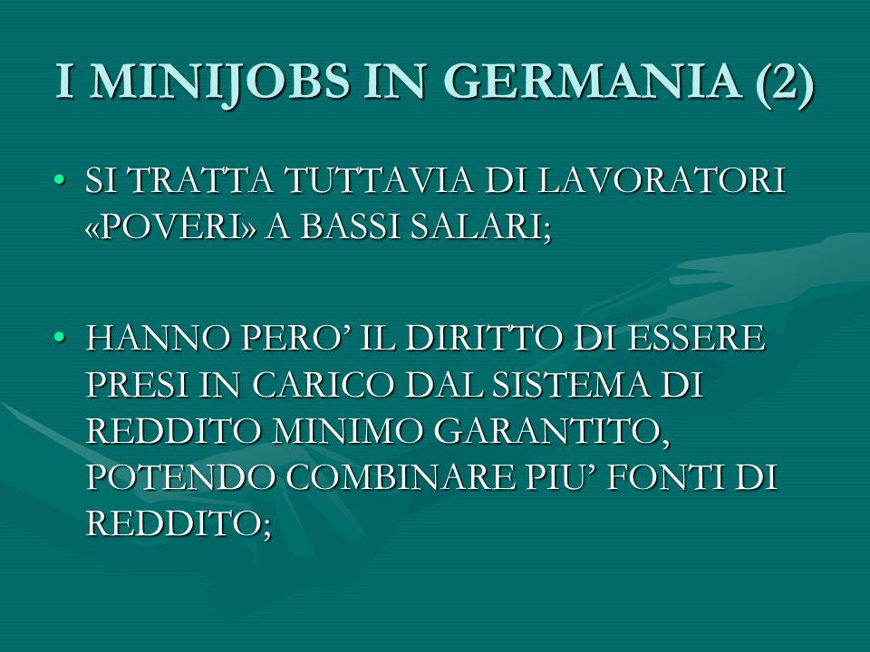 IL LAVORO ACCESSORIO IN ITALIA SARA' IL LAVORO ACCESSORIO LA VIA ITALIANA AI MINIJOBS?SARA' IL LAVORO ACCESSORIO LA VIA ITALIANA AI MINIJOBS.