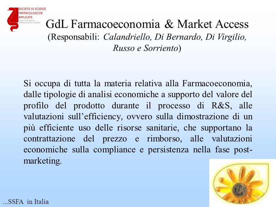Si occupa di tutta la materia relativa alla Farmacoeconomia, dalle tipologie di analisi economiche a supporto del valore del profilo del prodotto dura