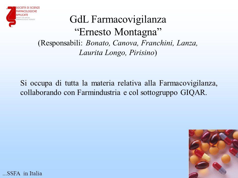 """Si occupa di tutta la materia relativa alla Farmacovigilanza, collaborando con Farmindustria e col sottogruppo GIQAR. 17 GdL Farmacovigilanza """"Ernesto"""