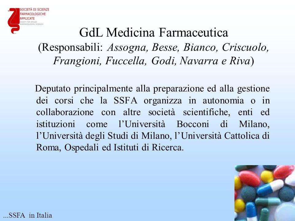 Deputato principalmente alla preparazione ed alla gestione dei corsi che la SSFA organizza in autonomia o in collaborazione con altre società scientif