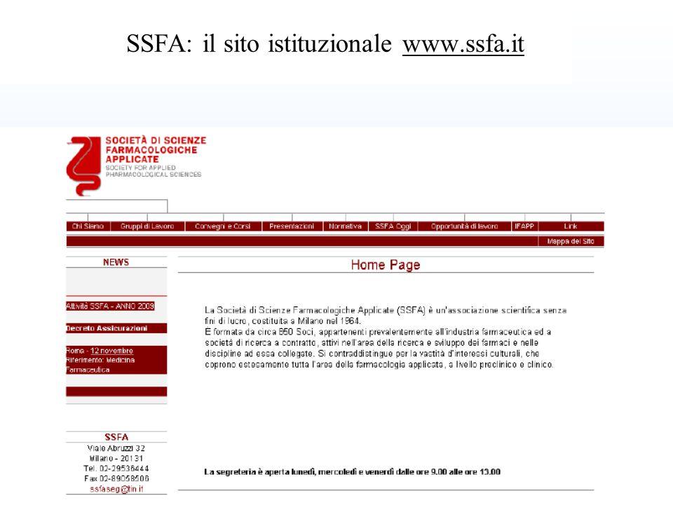27 SSFA: il sito istituzionale www.ssfa.it