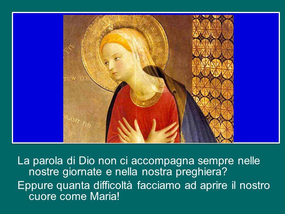 Non temere, Maria, perché hai trovato grazia presso Dio – sembra ripetere l'angelo non solo a Maria, ma a ciascuno di noi.