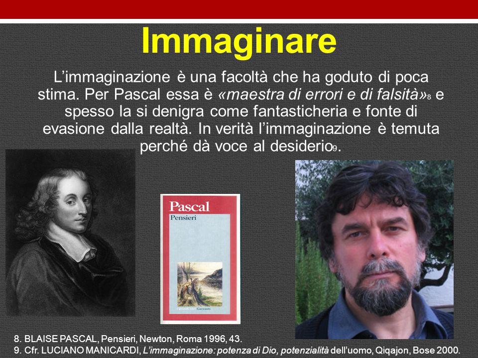 Immaginare L'immaginazione è una facoltà che ha goduto di poca stima.
