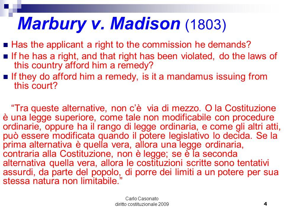 Carlo Casonato diritto costituzionale 20095 Marbury v.