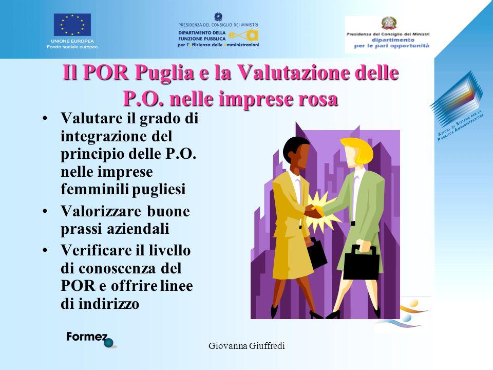 Giovanna Giuffredi Il POR Puglia e la Valutazione delle P.O.