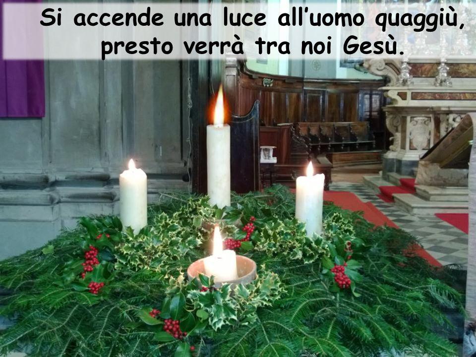Si accende una luce all'uomo quaggiù, presto verrà tra noi Gesù.