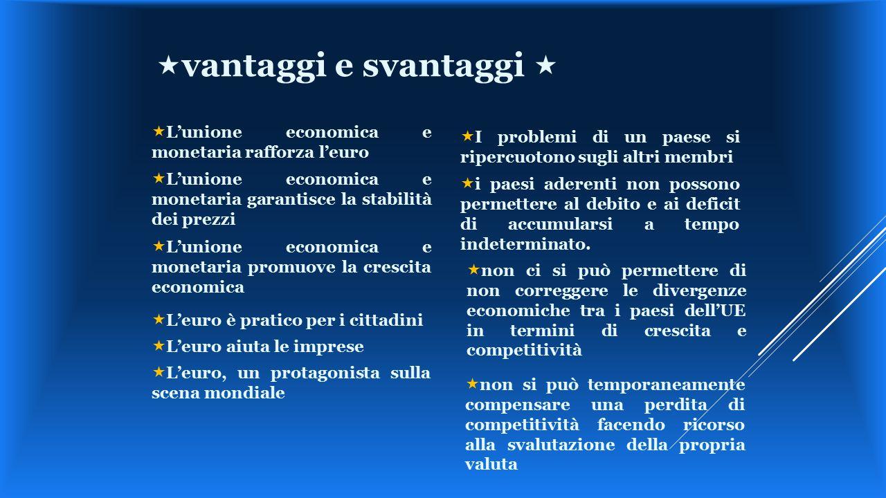  L'unione economica e monetaria rafforza l'euro  L'unione economica e monetaria garantisce la stabilità dei prezzi  L'euro, un protagonista sulla s