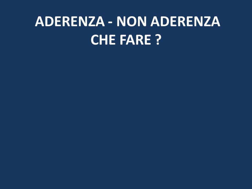 ADERENZA - NON ADERENZA CHE FARE ?