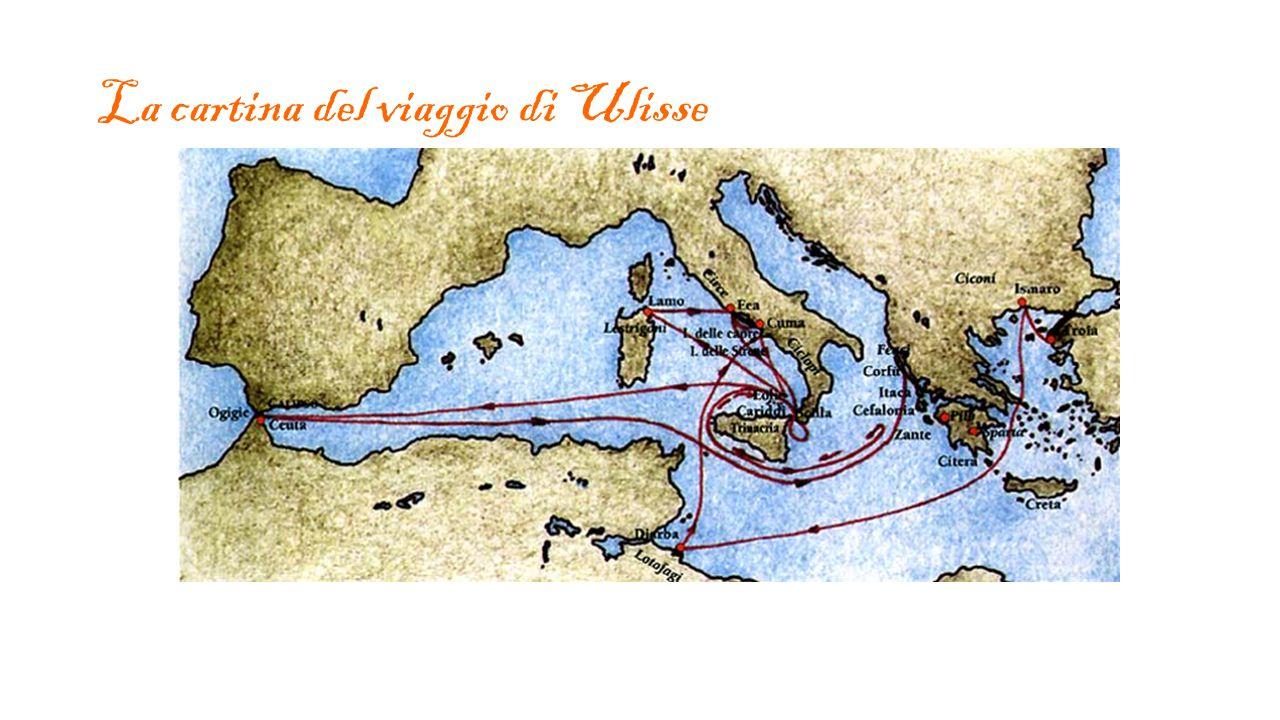 La cartina del viaggio di Ulisse