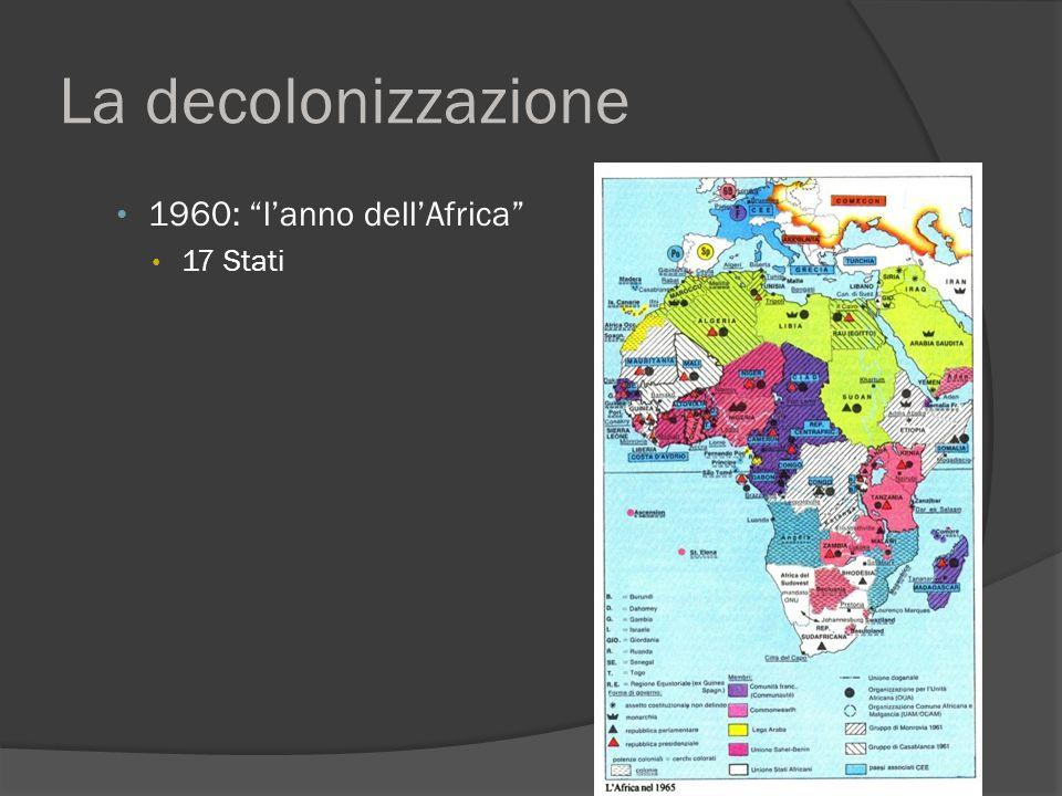 """La decolonizzazione 1960: """"l'anno dell'Africa"""" 17 Stati"""