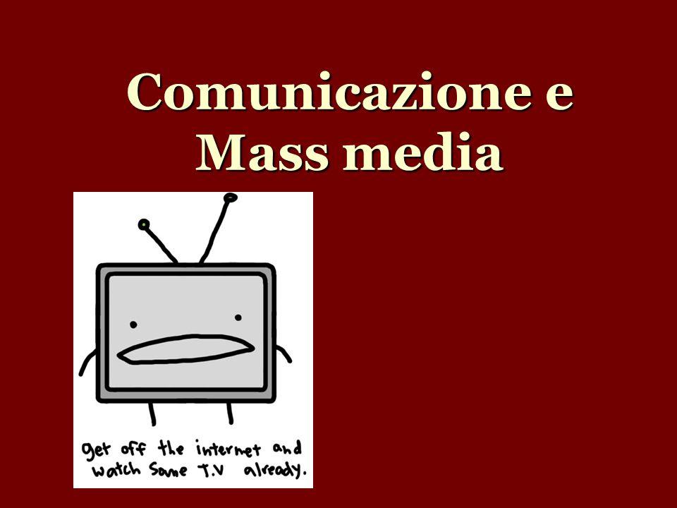 2 approcci di studio MEDIA-CENTRICI: si riconosce autonomia propria all influenza dei media SOCIO-CENTRICI: considerano i media come emanazione delle forze politiche ed economiche