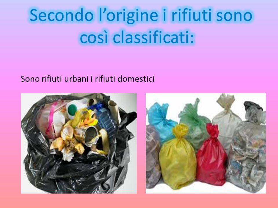 Sono rifiuti urbani i rifiuti domestici