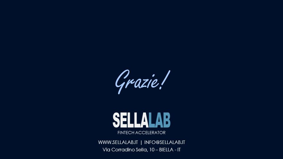 WWW.SELLALAB.IT | INFO@SELLALAB.IT Via Corradino Sella, 10 – BIELLA - IT