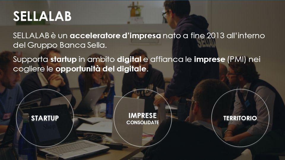 SELLALAB è un acceleratore d'impresa nato a fine 2013 all'interno del Gruppo Banca Sella.