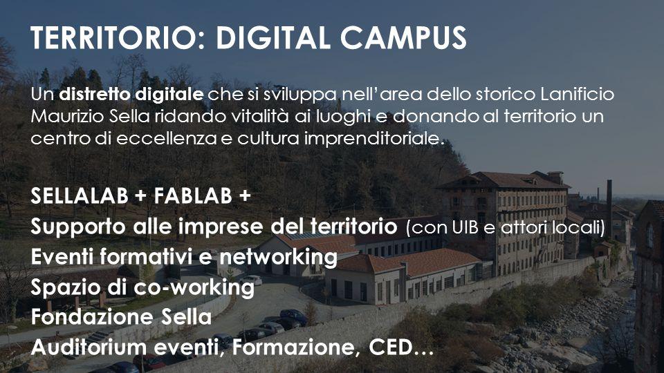 Un distretto digitale che si sviluppa nell'area dello storico Lanificio Maurizio Sella ridando vitalità ai luoghi e donando al territorio un centro di eccellenza e cultura imprenditoriale.