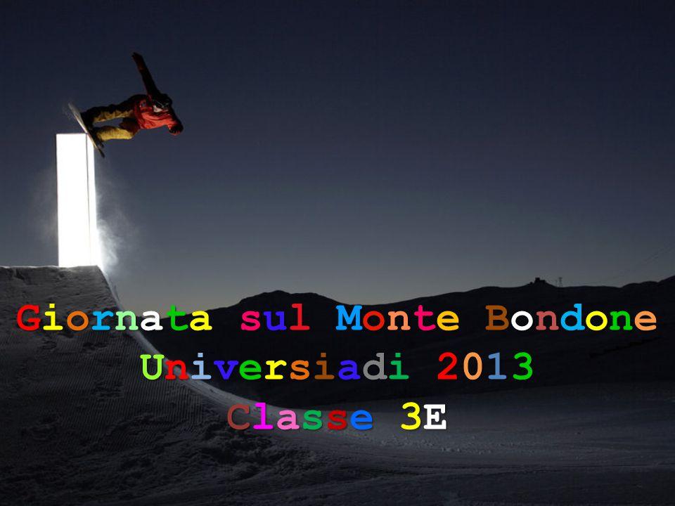 Giornata sul Monte Bondone Universiadi 2013 Classe 3E
