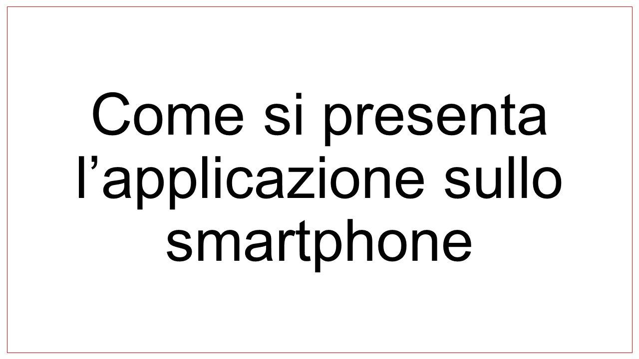 Come si presenta l'applicazione sullo smartphone