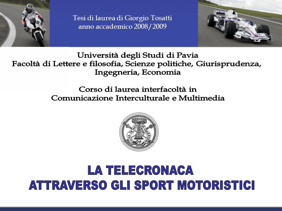Tesi di laurea di Giorgio Tosatti anno accademico 2008/2009