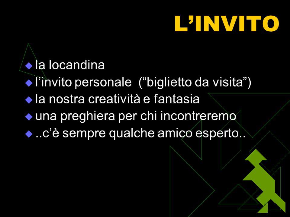 """L'INVITO lla locandina ll'invito personale (""""biglietto da visita"""") lla nostra creatività e fantasia uuna preghiera per chi incontreremo ...c"""