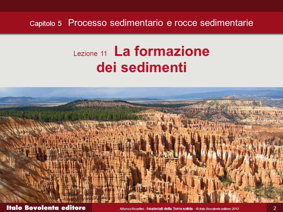 Alfonso Bosellini – I materiali della Terra solida - © Italo Bovolenta editore 2012 13 Il diossido di carbonio può decomporre i minerali argillosi formando silice e idrossidi di ferro e alluminio.
