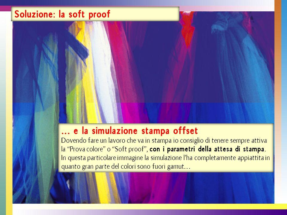 … come mostra la specifica funzione è la funzione avvertimento gamma di Photoshop.