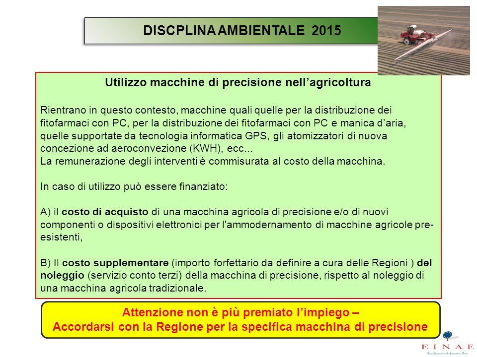 Utilizzo macchine di precisione nell'agricoltura Rientrano in questo contesto, macchine quali quelle per la distribuzione dei fitofarmaci con PC, per