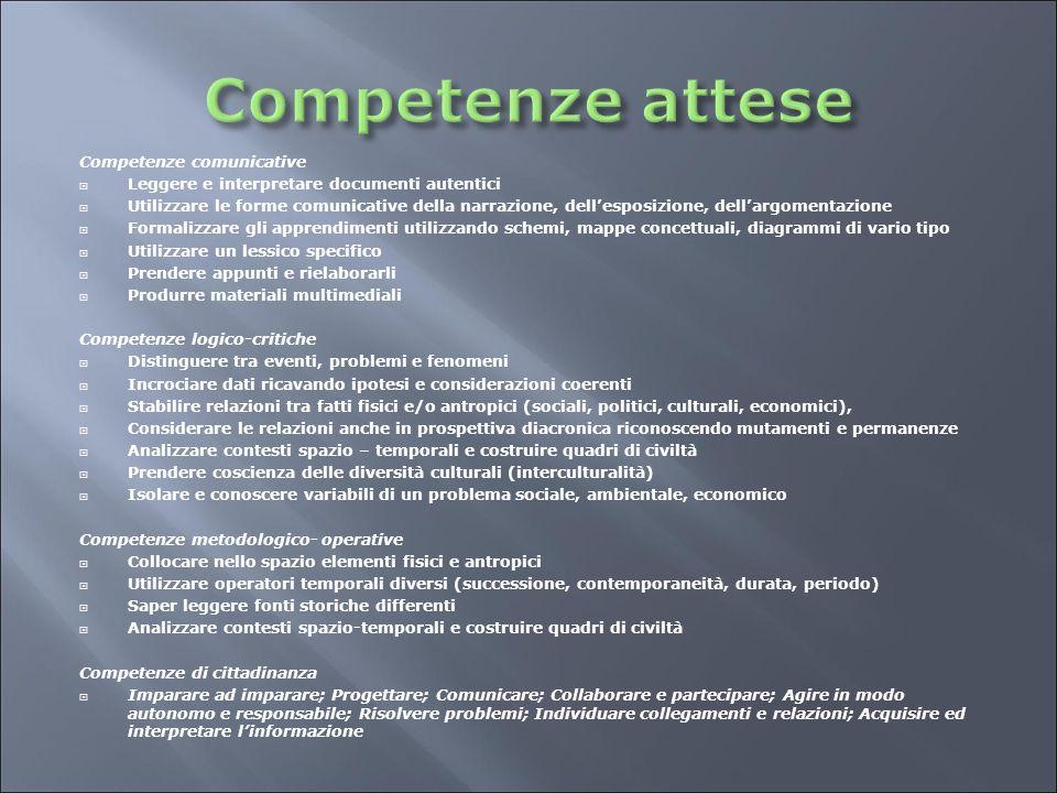 Competenze comunicative  Leggere e interpretare documenti autentici  Utilizzare le forme comunicative della narrazione, dell'esposizione, dell'argom
