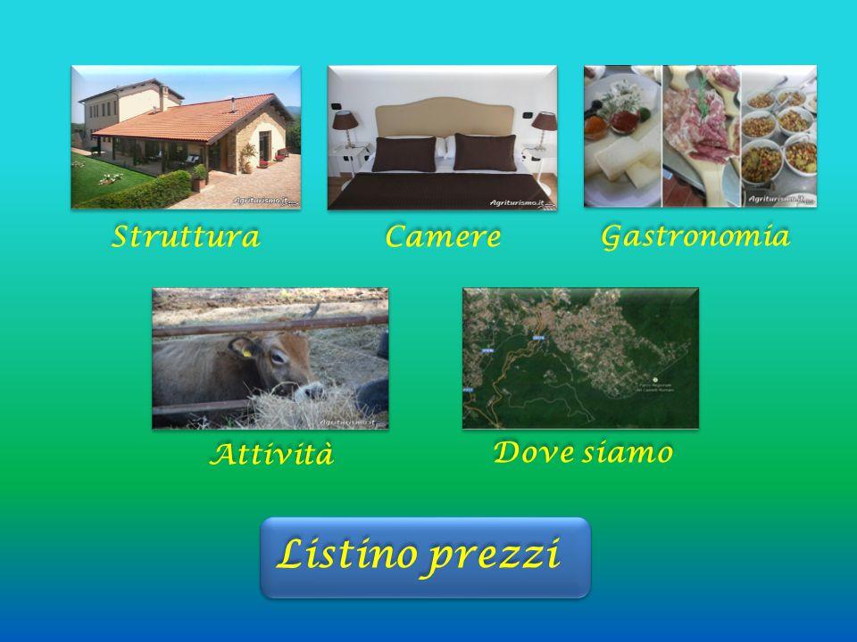 Struttura Camere Gastronomia Attività Dove siamo Listino prezzi