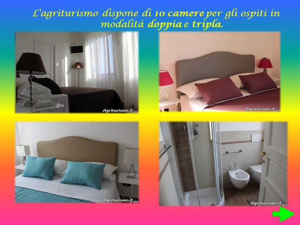 L'agriturismo dispone di 10 camere per gli ospiti in modalità doppia e tripla.