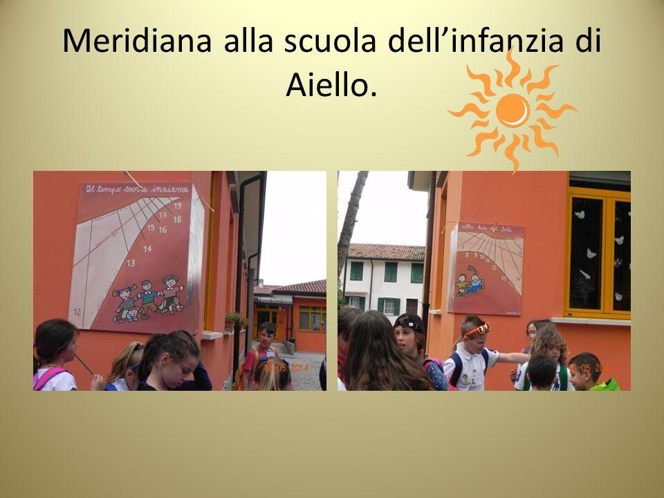 Meridiana alla scuola dell'infanzia di Aiello.