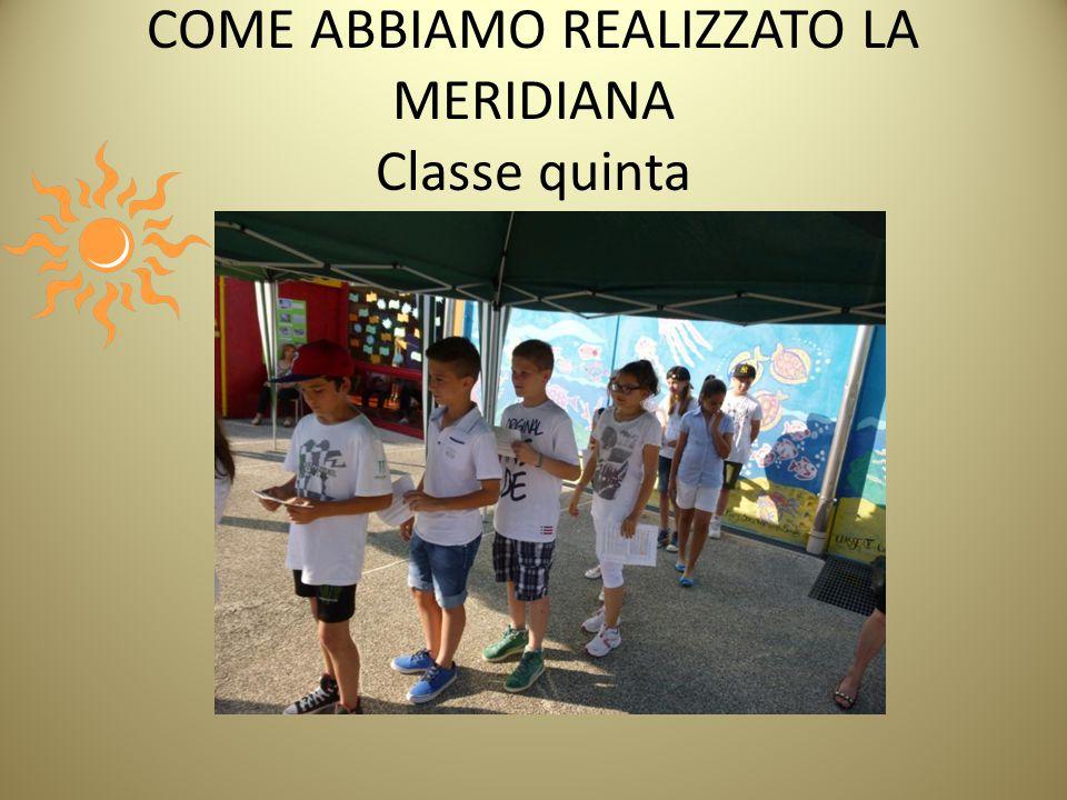 COME ABBIAMO REALIZZATO LA MERIDIANA Classe quinta