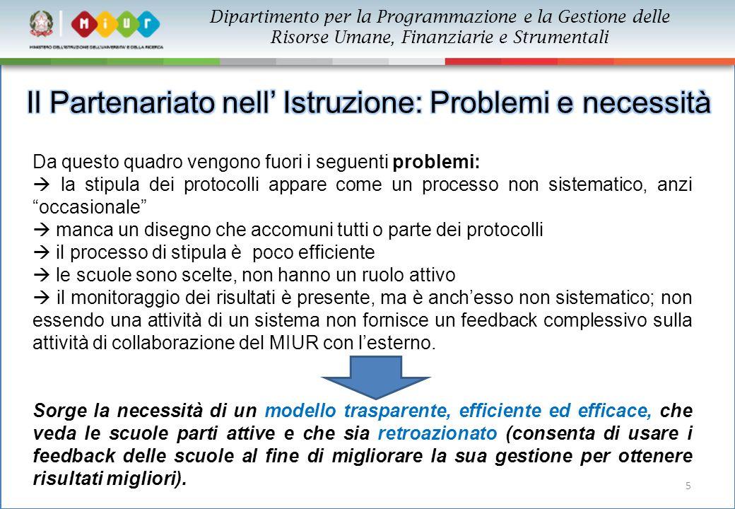 """5 Da questo quadro vengono fuori i seguenti problemi:  la stipula dei protocolli appare come un processo non sistematico, anzi """"occasionale""""  manca"""