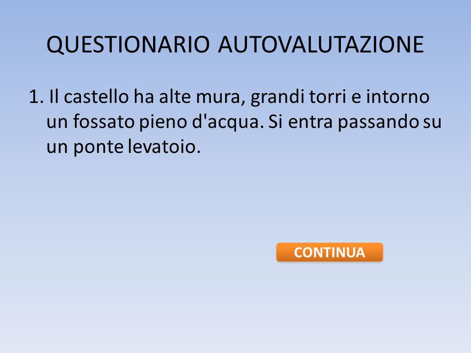 QUESTIONARIO AUTOVALUTAZIONE 1.