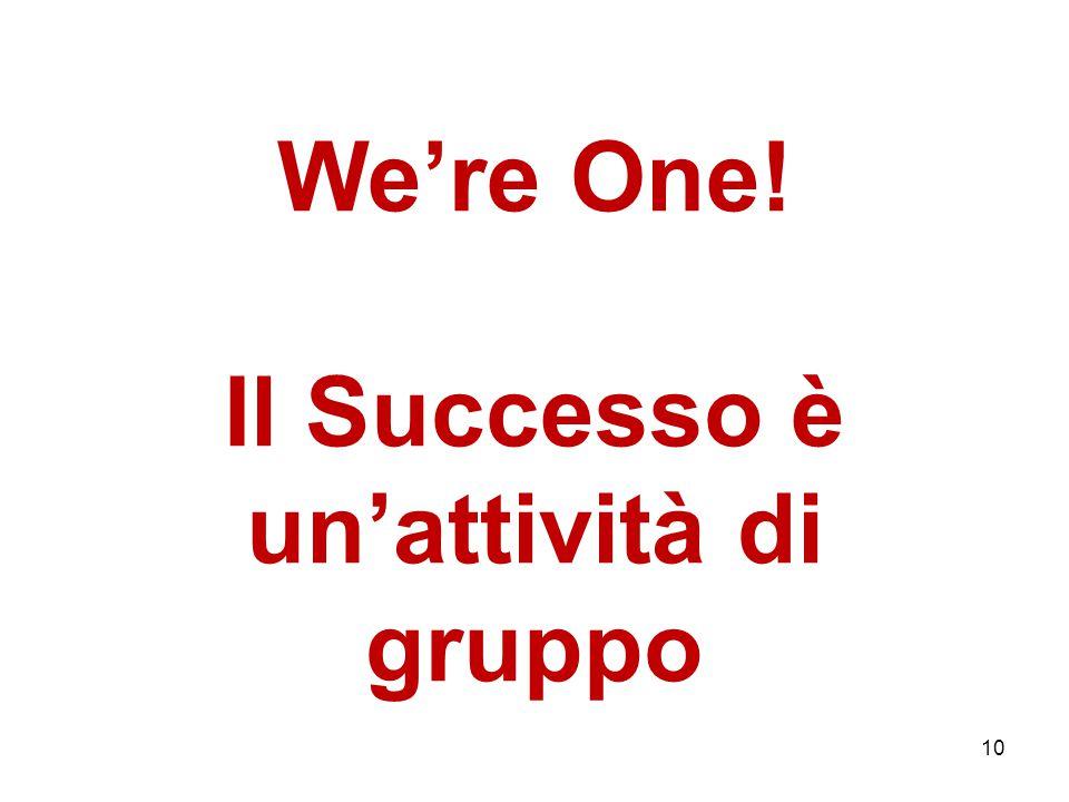 We're One! Il Successo è un'attività di gruppo 10