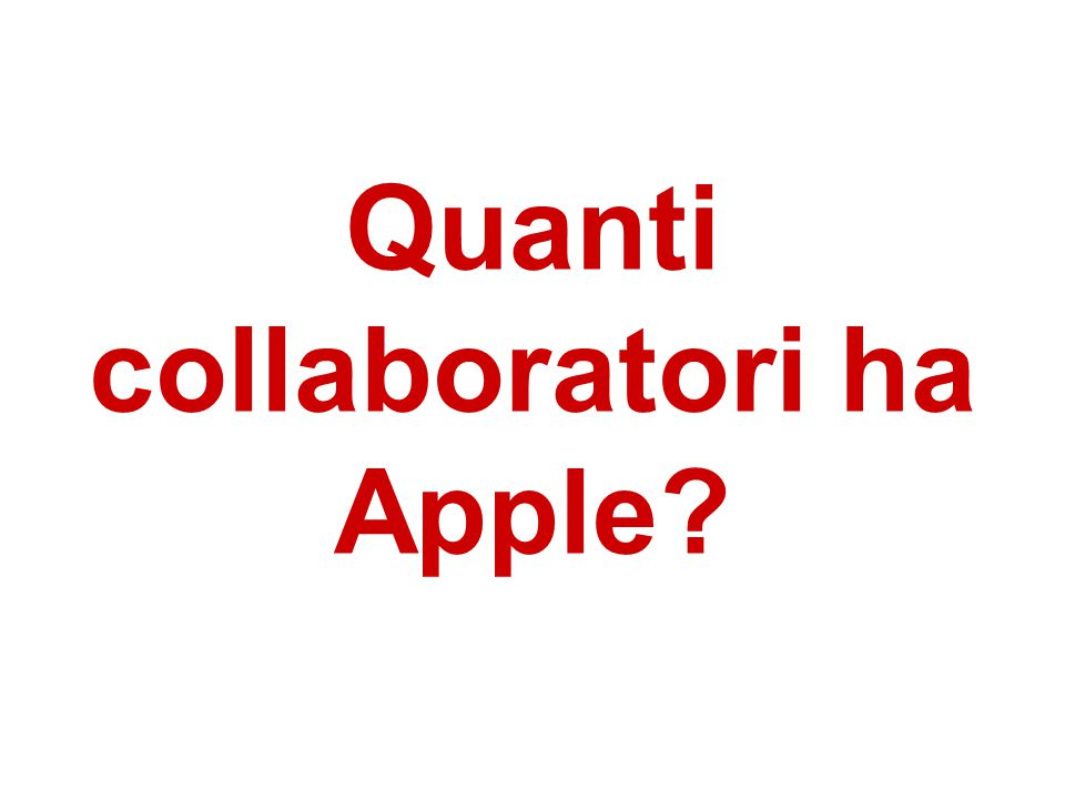 Quanti collaboratori ha Apple