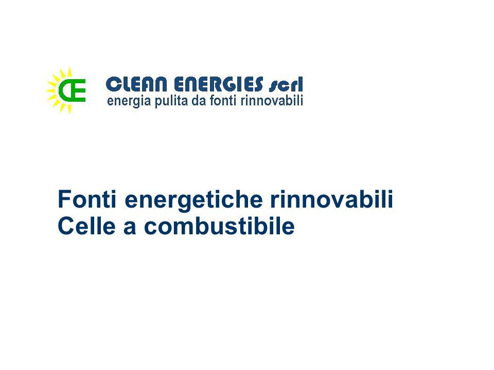 Fonti energetiche rinnovabili Celle a combustibile