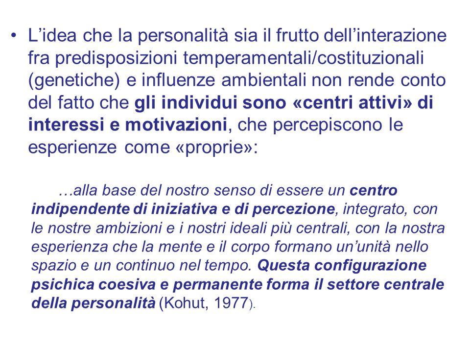 L'idea che la personalità sia il frutto dell'interazione fra predisposizioni temperamentali/costituzionali (genetiche) e influenze ambientali non rend