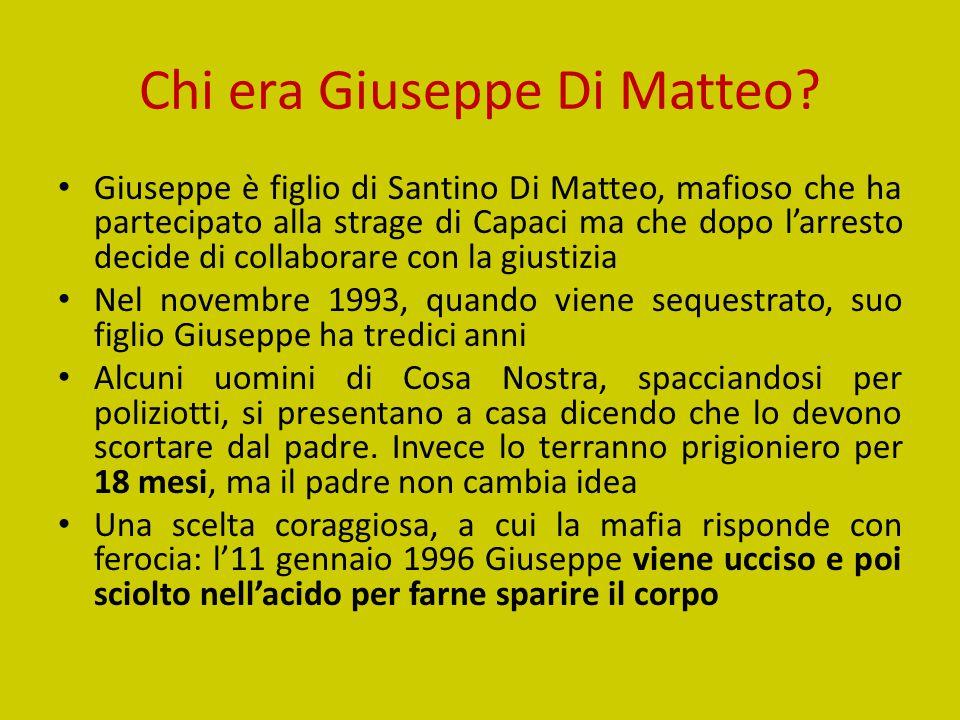 Chi era Giuseppe Di Matteo.