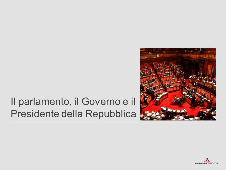 Il parlamento, il Governo e il Presidente della Repubblica