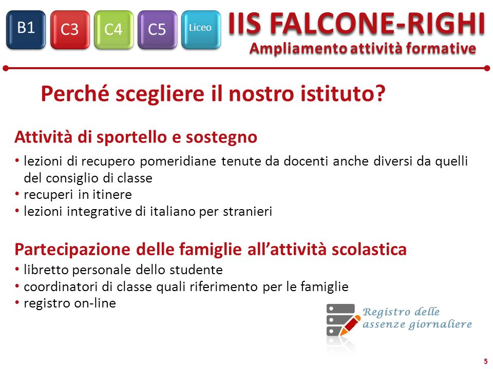 C3C4C5 Liceo IIS FALCONE-RIGHI S1 B1 6 Registro Elettronico