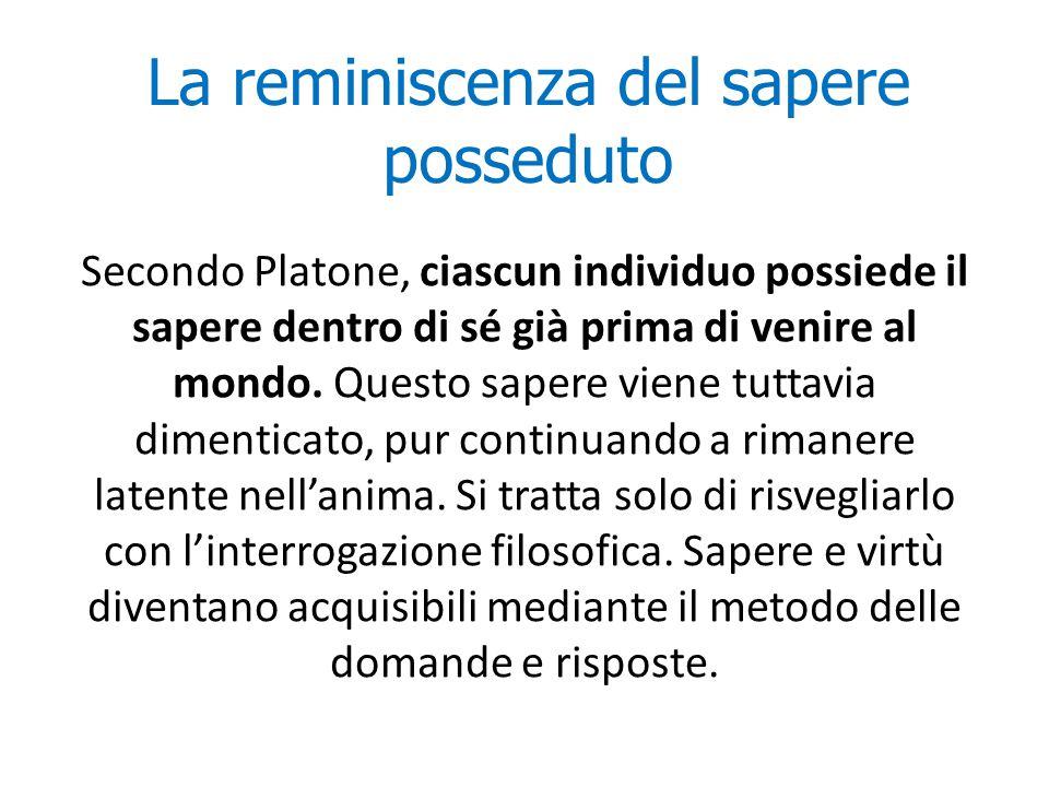 La dottrina delle idee Per Platone, l'idea è la causa in base a cui un oggetto è costituito in un determinato modo.