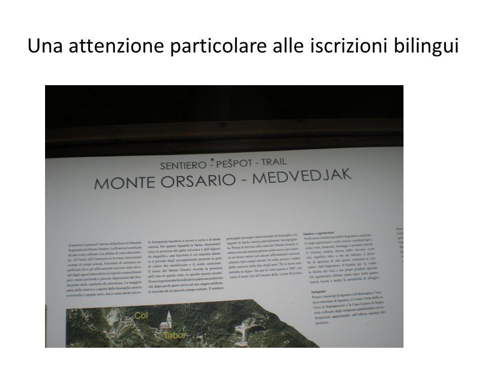 Una attenzione particolare alle iscrizioni bilingui