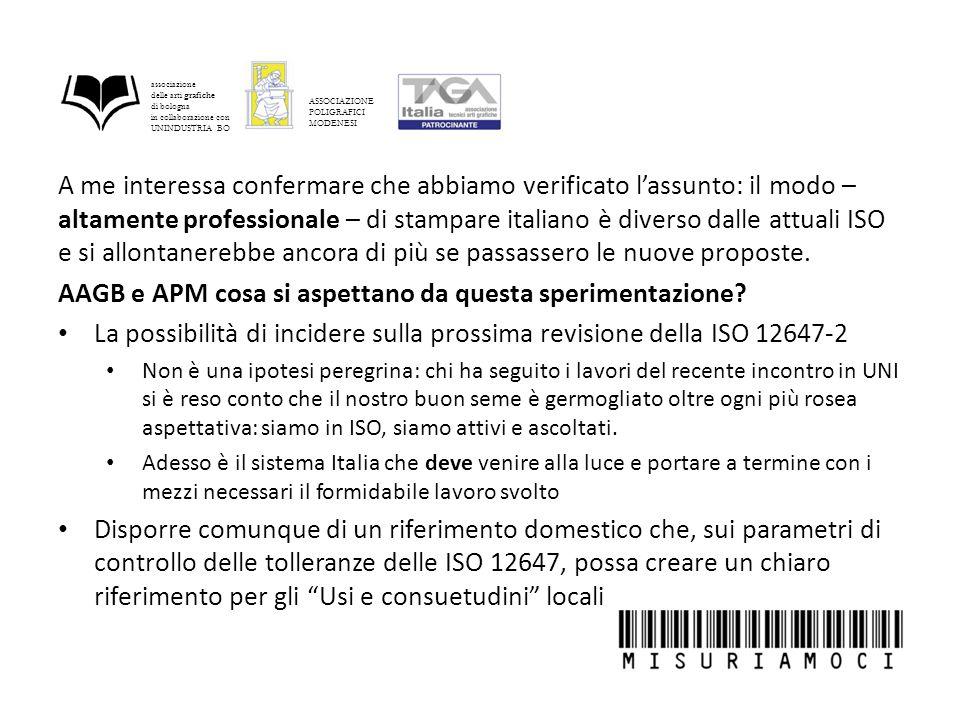 A me interessa confermare che abbiamo verificato l'assunto: il modo – altamente professionale – di stampare italiano è diverso dalle attuali ISO e si allontanerebbe ancora di più se passassero le nuove proposte.