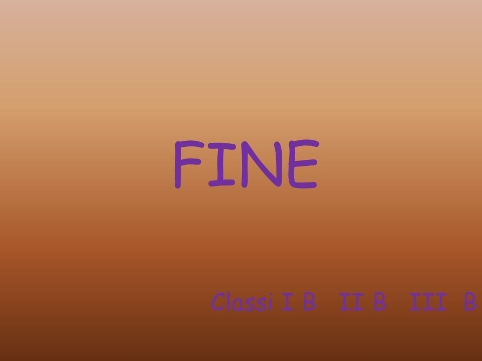 FINE Classi I B II B III B