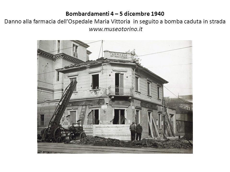 Bombardamenti 8-9 Dicembre 42 Via Cibrario 22 – 24 www.museotorino.it
