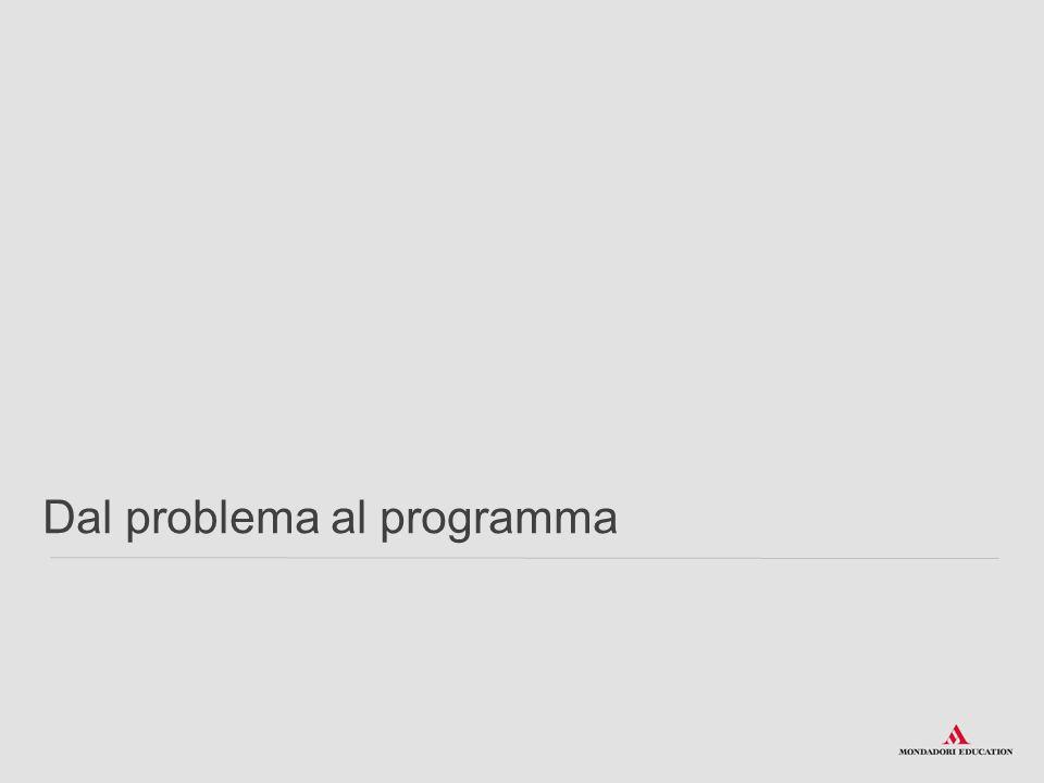 Flow Chart (diagrammi di flusso) Nella descrizione tramite diagramma a blocchi o flow-chart, a ogni simbolo corrisponde un preciso tipo di operazione : O gni algoritmo deve iniziare con il simbolo: e deve concludersi con il simbolo: Questi due simboli devono presentarsi una sola volta all'interno del flow-chart Problemi, algoritmi e programmazione > Gli algoritmi e la loro rappresentazione