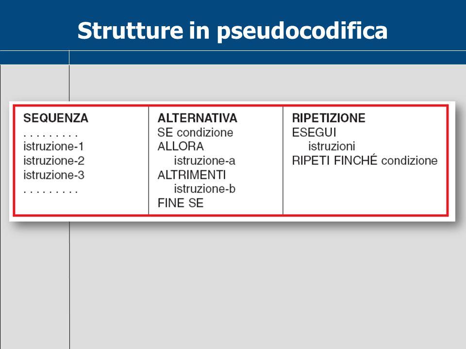 Strutture in pseudocodifica