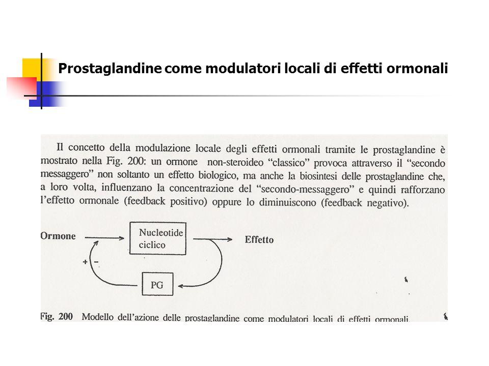 Prostaglandine come modulatori locali di effetti ormonali