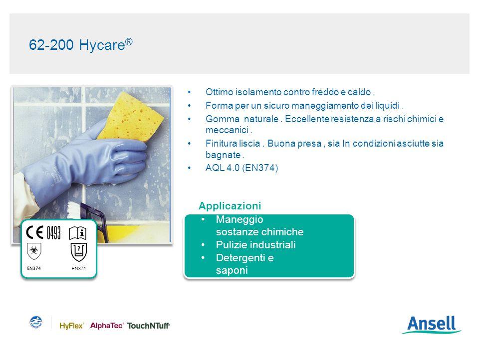 62-200 Hycare ® Ottimo isolamento contro freddo e caldo.